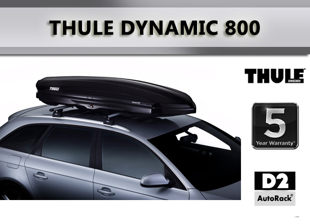 thule roofbox dynamic 800 black glossy. Black Bedroom Furniture Sets. Home Design Ideas